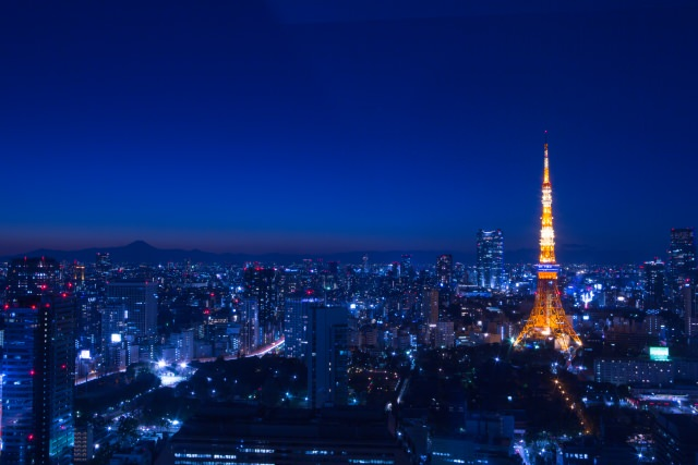 東京鐡塔的夜景十分美麗!