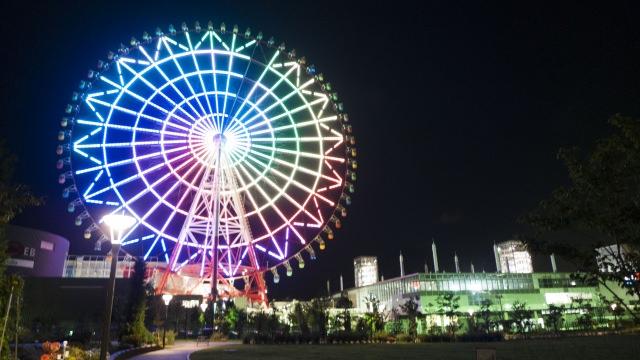 3. 能從高處欣賞東京夜景的景點「Palette Town大摩天輪」