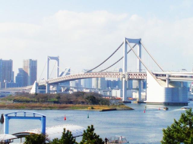8. 東京兜風的名所!「彩虹大橋」