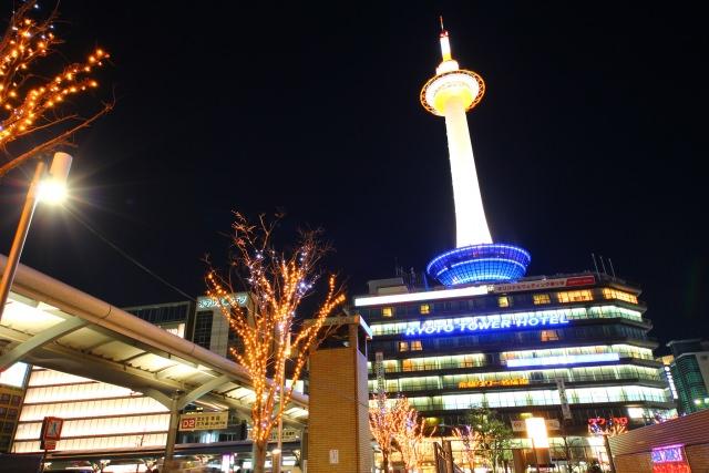 2. 從京都的基本觀光景點欣賞夜景「京都塔」