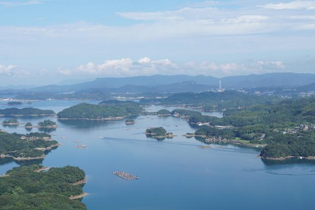 2. 180度的全景!從佐世保的展望台眺望九十九島「展海峰」
