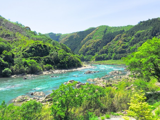 3. 四國的大河。來到高知縣必去的旅遊景點「四萬十川」