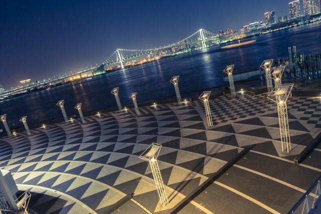 1. 能將彩虹大橋盡收眼底的東京夜景景點「晴海客船碼頭」