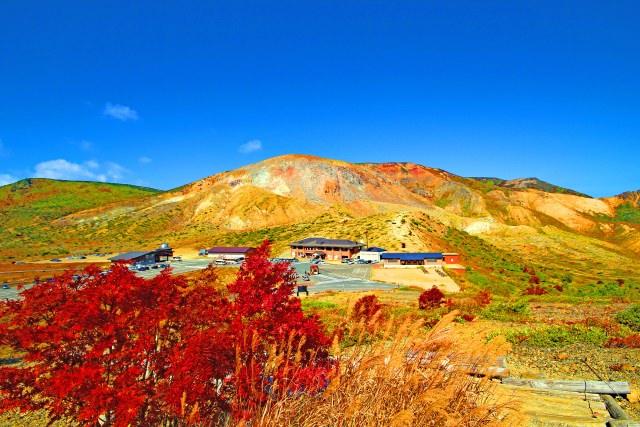9. 在山的中腹親深感受被紅葉所包圍「淨土平」