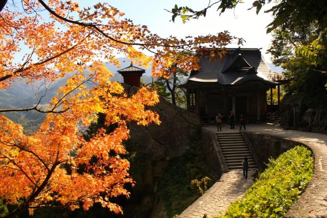 6. 積雪前的賞楓也非常美「立石寺(山寺)」