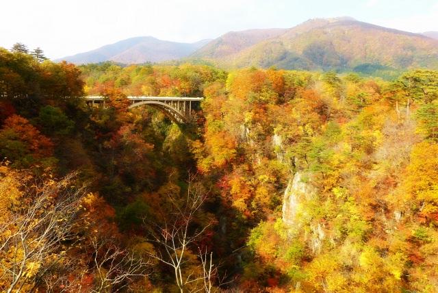 8. 離溫泉鄉非常近的絕景賞楓「鳴子峽」