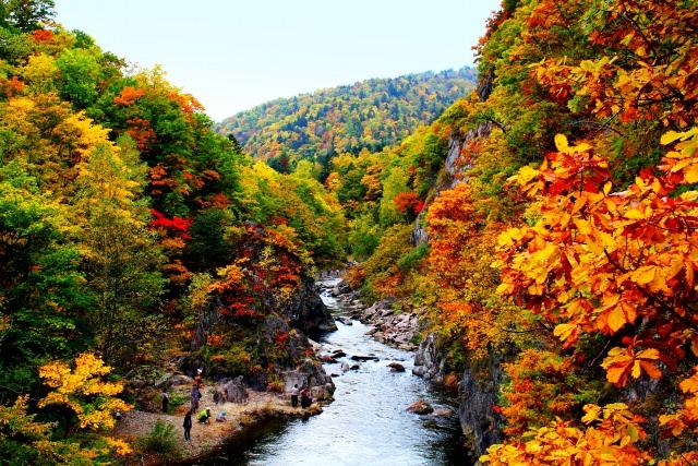1. 與溫泉一同享受的札幌紅葉「定山溪溫泉」